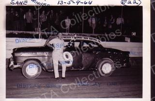Gene Sane 9 Stock Car 1964 Racing Photo Winner