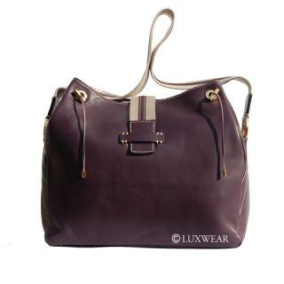 Loro Piana Handbag Buttersoft Purple Spring Bag