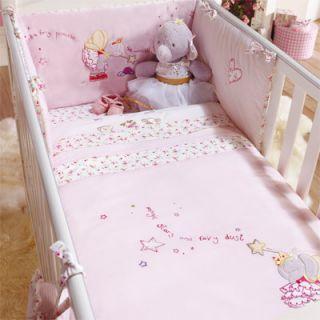 Izziwotnot Lottie Fairy Princess 5 Piece Coverlet Bedding Bale Cot Cot