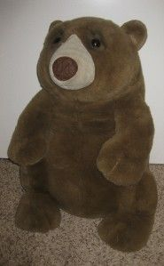 Huge Stuffed Lou Rankin Friends Brown Large Big Bear Plush Toy 26