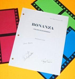 Bonanza Escape Ponderosa Script Signed rpt Lorne Greene