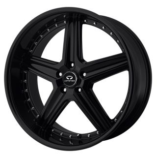 Lorenzo 19 WL19 WL01988057345 18x8 45mm Offset 5x112 Gloss Black Rim