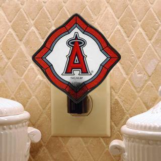 Los Angeles Angels of Anaheim Vintage Art Glass Night Light