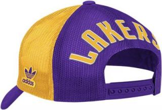 adidas Los Angeles LA Lakers NBA Playoffs Foam & Mesh Trucker Snapback