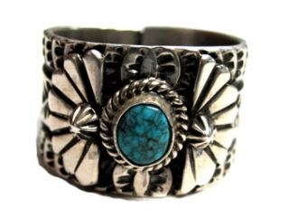 Sunshine Reeves –Lone Mountain Turquoise Ring Excellent