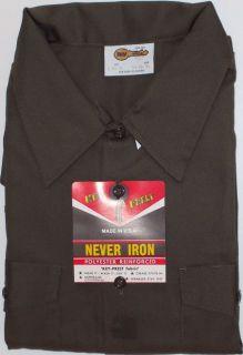 Work Shirt Long Sleeve Olive Key Mfg Made in U s A Regular Big Tall