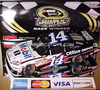24 2011 Tony Stewart #14 Mobil 1 Loudon Raced Platinum Nascar Lionel