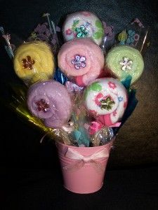 Washcloth Lollipop Bouquet Baby Shower Hospital Gift