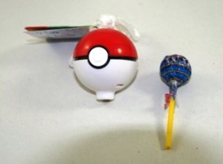 Pokemon Chupa Chups Lollipop Holder Pokeball W/ Figure   Tomy Japan
