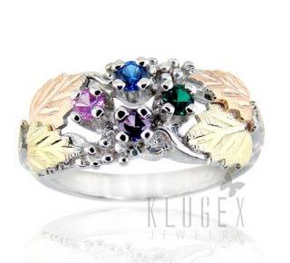 Black Hills Sterling 12K Gold Ring Size 8