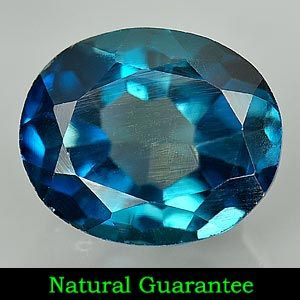 11 Ct Attractive Natural London Blue Topaz Gemstone Oval Shape