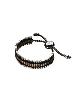 Links of London Black & Gold Friendship Bracelet