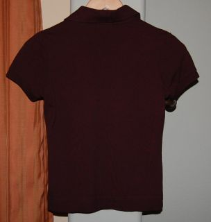 Lacoste Short Sleeve Brown Polo Shirt Youth Girls Small