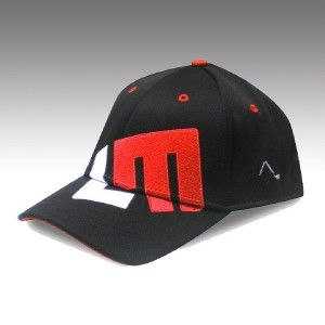 Loudmouth Golf Cap  Black Hat Adjustable LM White Red  Brand New