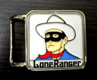 Vintage 1960s Lone Ranger Adult Belt Buckle Mint
