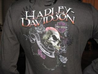HARLEY DAVIDSON WOMENS SKULL & ROSES FULL ZIP MOCK NECK JACKET 1X NWT