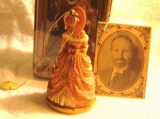 Louis Nichole Victorian Girl w Muff Ornament Kurt Adler Original Box