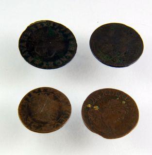 French Louis XVI Coins Liard Lot 2 1779 1785 Bronze