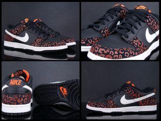Nike Wmns Dunk Low Skinny Henna Orange Cheetah Size 6 5 Women Shoes