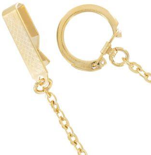 Key Chain Mens Yellow Gold GP Belt Hook Keyring 20 Extra Long