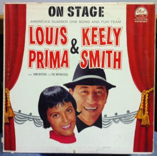 Louis Prima Kelly Smith on Stage LP VG DLP 3266 Vinyl 1960 1st Press