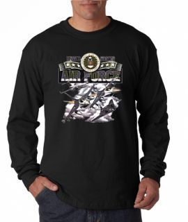 Airforce USA Military Long Sleeve Tee Shirt