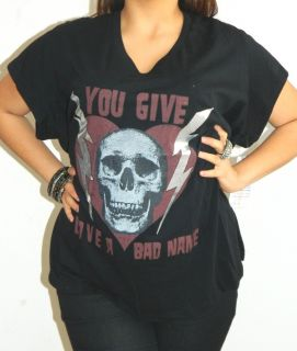 Give Love A Bad Name Lords of Liverpool Skull Heart Tshirt XL