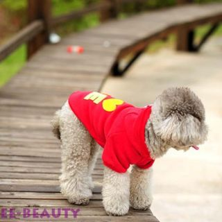 Colorful Purple Love Sweater Dog Pet Clothes Puppy Autumn Coat