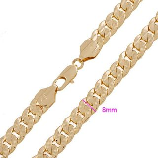 Loyal Men 14k Yellow Gold GF Necklace Solid Chain 24in