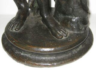 Antique Bronze Hercules Figurine Sculpture Statue