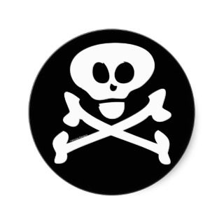 Skull and Crossbones Stickers