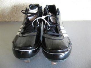 New Mens Adidas DK Lightning Black White Metal Low Baseball Cleats US