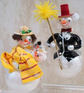 Radko Snow Love Ornament Snowman 1st Christmas 1010399