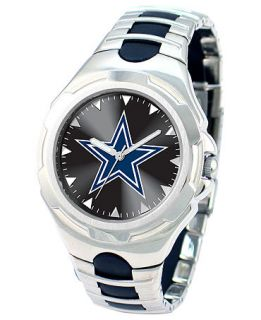 Game Time Watch, Mens Dallas Cowboys Black Rubber and Stainless Steel