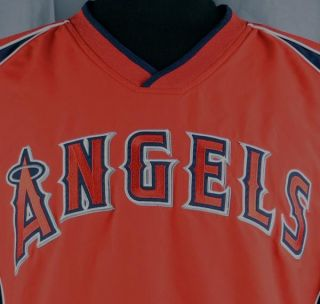 Los Angeles Angels of Anaheim MLB Pullover Warm Up Jacket Large Red