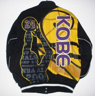 XXL NBA Los Angeles Lakers Kobe Bryant Embroidered Cotton Jacket XXL