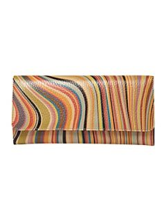 Paul Smith London Swirl print large tri fold flapover purse