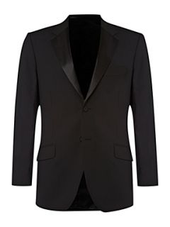 Howick Tailored Powell tuxedo jacket with satin collar Black