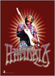 New Jimi Hendrix Cloth Poster Flag Red