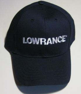 Lowrance Hat Color Is Dark Blue with White Embroidery