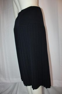 Salvatore Ferragamo Vtg Knife Pleat Dress Skirt M