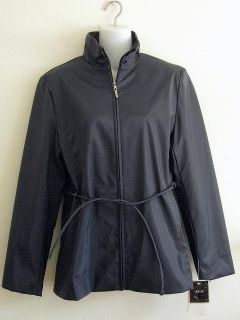 JLC New York Womens Rain Jacket Coat s Navy Blue New