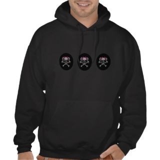 Ponytail skull decal w/ pink bows hoody