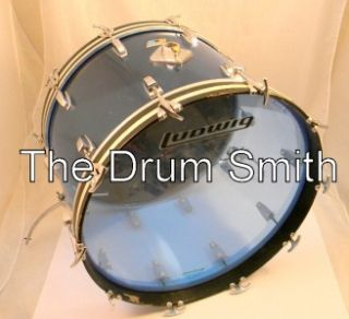 Ludwig Blue 1976 Vistalite 14 x 22 Bass Drum No Reserve