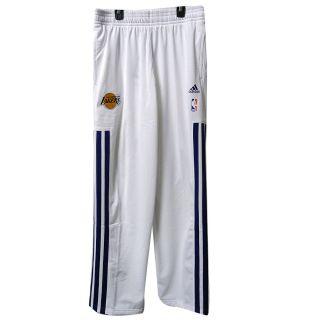 Los Angeles Lakers 2012 13 Sz XXL White NBA on Court Warm Up Pant