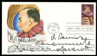 Luciano Pavarotti Caruso Vintage 1987 Signed First Day Cover FDC