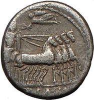 Roman Republic Sulla in Chariot 82BCANCIENT Silver Coin