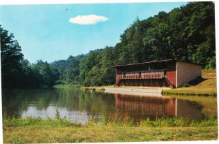 Loudonville Oh Judson Hills Camp Main Lodge Baptist Ohio Postcard