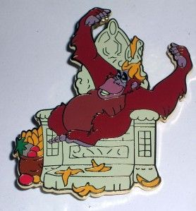 King Louie Ape on Throne Jungle Book Disney Pin Le 100