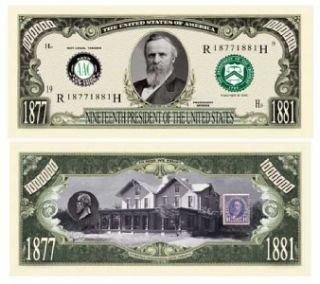 Rutherford B Hayes Million Dollar Bill 5 $2 50